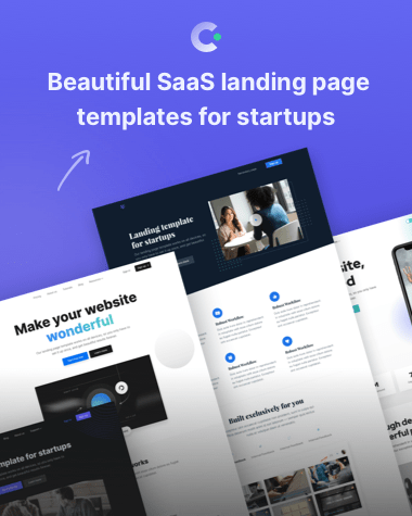 Beautifully designed SaaS landing page templates on Cruip