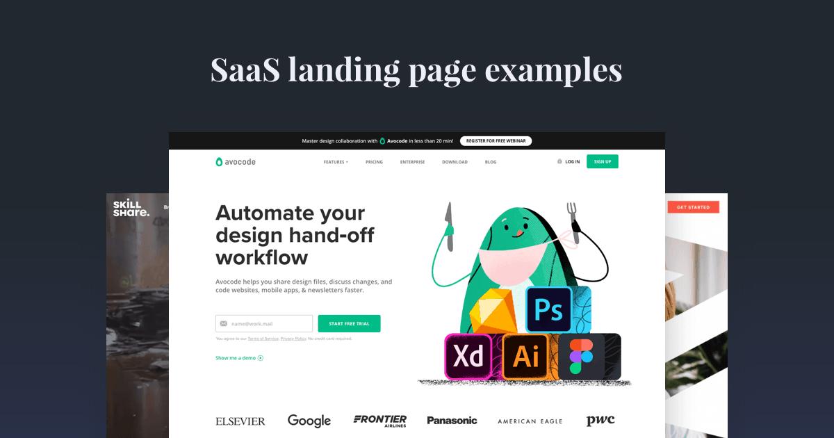 SaaS landing page examples
