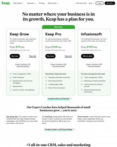 keap-pricing-page