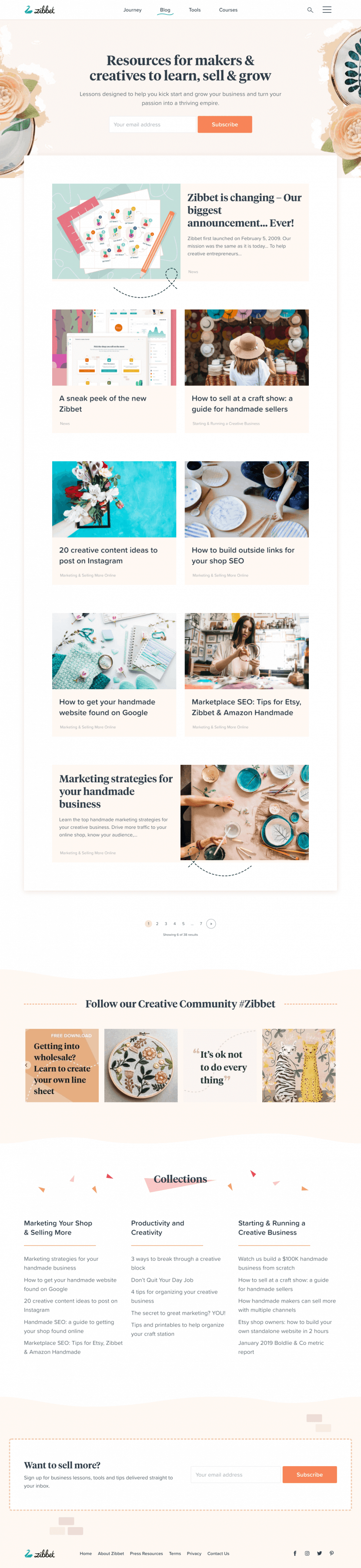 zibbet-blog-page