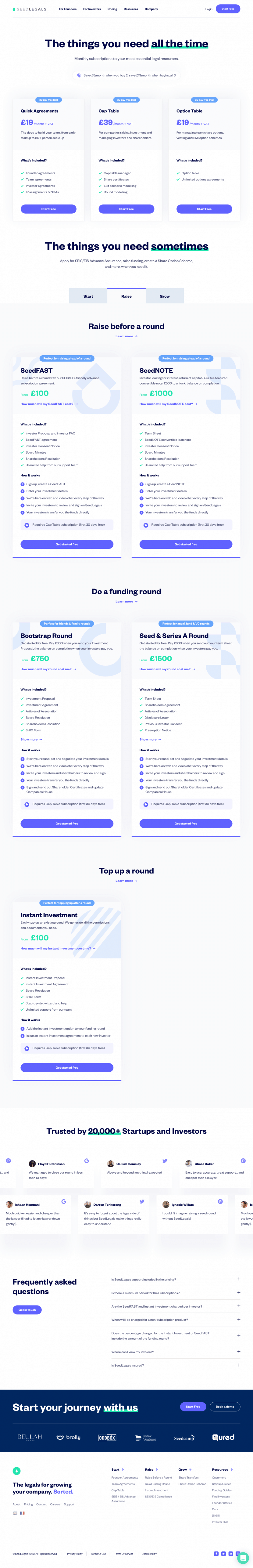 seedlegals-pricing-page