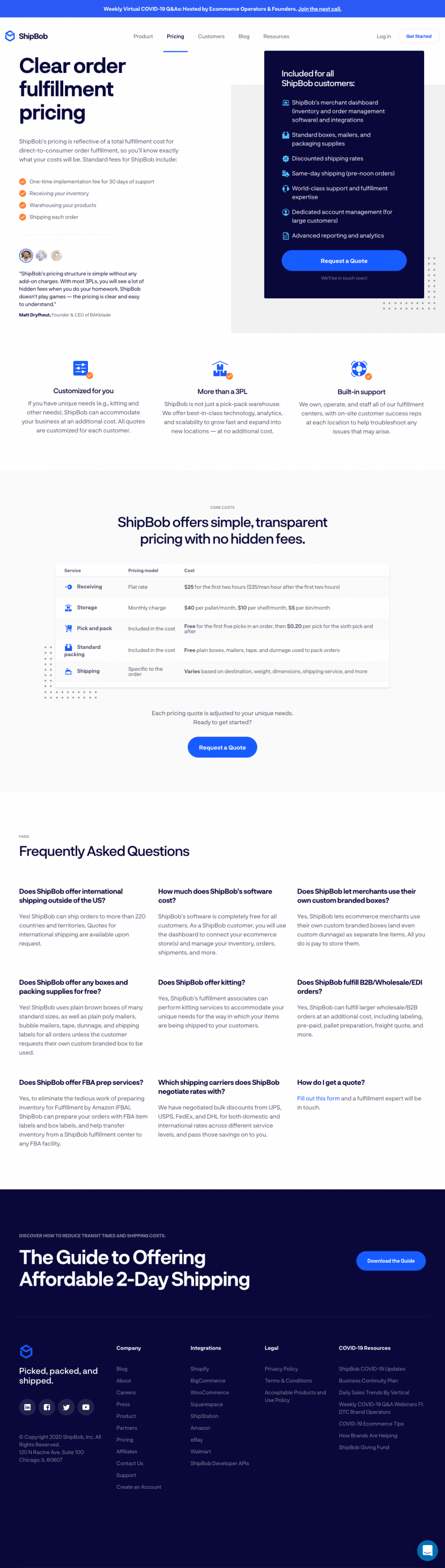 shipbob-pricing-page