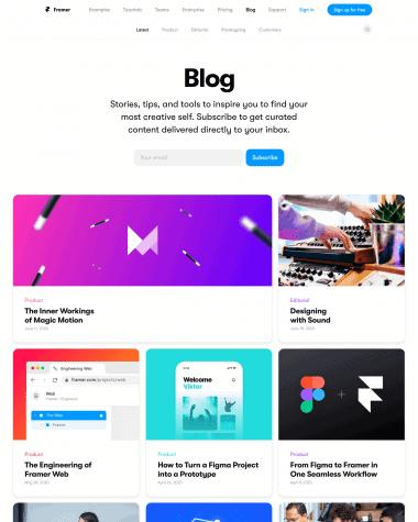 framer-blog-page
