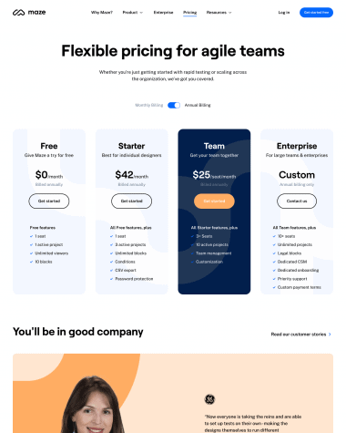 maze-pricing-page